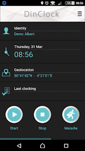 DinClock mobile - screenshot
