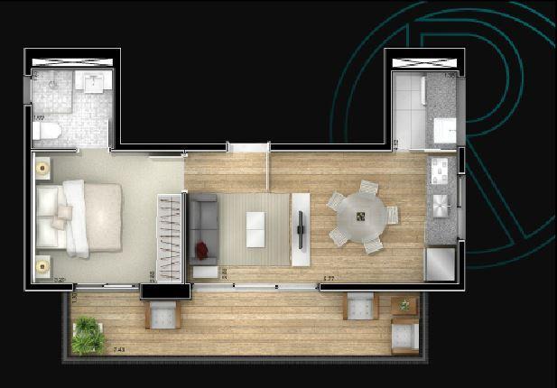 Planta 48,8 m²