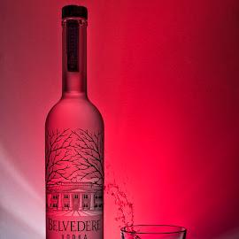 BELVEDERE by Maurizio Mameli - Food & Drink Alcohol & Drinks ( redlight, red, alcohol, food, drink, light, drinks, wodka, poland )