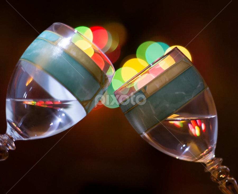 Cheers for the Holiday! by Jerome Obille - Artistic Objects Glass ( artictic, colorful, glass, object, bokeh,  )