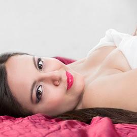 by Warren Chirinos Pinedo - Nudes & Boudoir Boudoir ( sexy, lingerie, makeup, boudoir, beautiful, lips, warren chirinos, nicole descalzo, beauty, boobs, sexygirl, sensual, eyes )