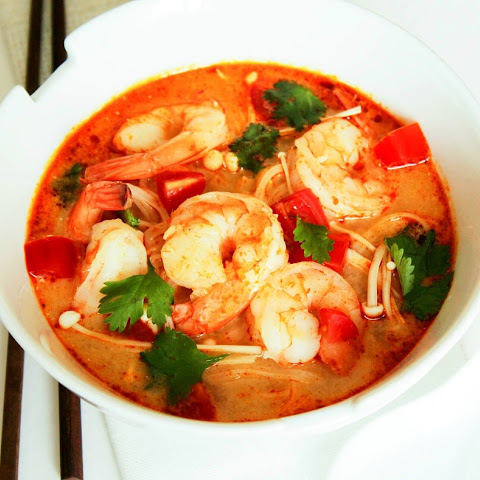 Asian Tom Yum Soup with Shrimps