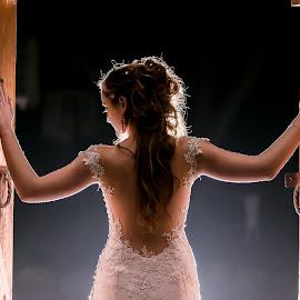 Doors by Lodewyk W Goosen (LWG Photo) - Wedding Bride ( wedding photography, doorway, wedding photographers, wedding day, weddings, wedding, brides, wedding photographer, bride, night shoot )
