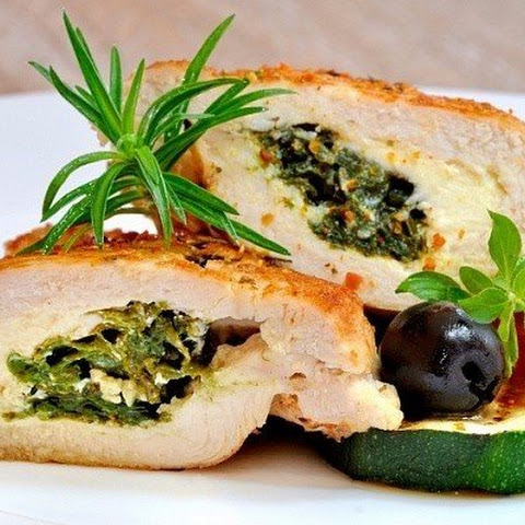 Chicken Breasts With Goat Cheese And Herbs