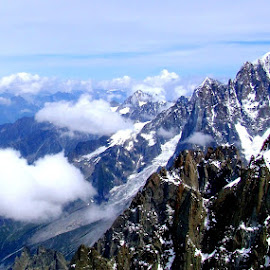 Mont Blanc by Ana Paula Filipe - Landscapes Mountains & Hills ( mountain, chamonix, mont, france, blanc )