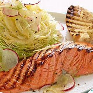 Grilled Salmon with Wedge Salad