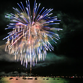 Tahoe Fireworks by Mike Lee - Public Holidays July 4th ( lake tahoe, independence day, 4th of july, event, fireworks,  )