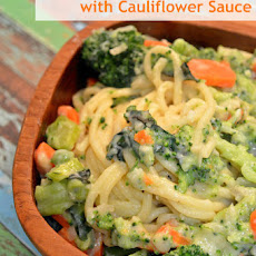Pasta Primavera with Creamy Cauliflower Sauce