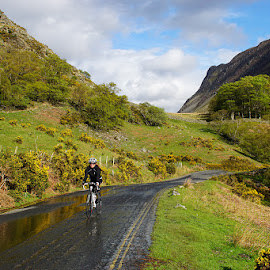 A ride after the rain. by Bob Rawlinson - Transportation Bicycles ( lakes )