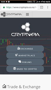 Cryptopia - Crypto Currency Trading screenshot for Android