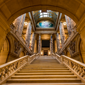 Capital Steps by Andy Chow - Buildings & Architecture Public & Historical ( minnesota, stairs, state capital, architecture, capital )