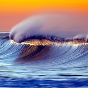 Daybreak Crest by Ann J. Sagel - Landscapes Waterscapes ( wave, water  ann sagel,  )