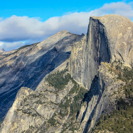 Half Dome Yosemite A World Heritage Site by Janet Marsh - Landscapes Travel ( half dome, yosemite,  )