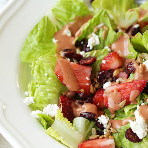 Salad With Strawberries, Cranberries, And Goat Cheese