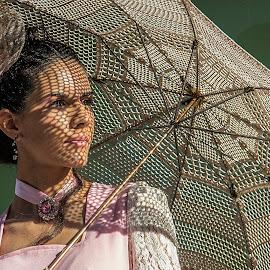 Kika by João Vaz Rico - People Portraits of Women ( woman, umbrella )