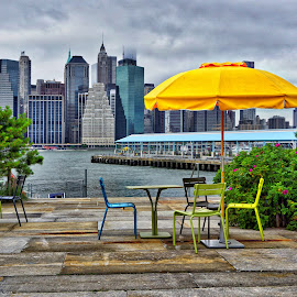 Brooklyn Bridge Park by Robert Kiss - City,  Street & Park  City Parks ( brooklyn bridge, park, colorful, relax, colors, new york, relaxation, city park, relaxing, city, city parks, brooklyn bridge park, east river, bridge, river, brooklyn )