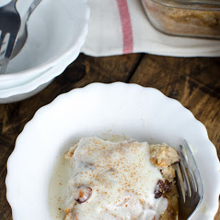 Bread Pudding with Bourbon Cream Sauce