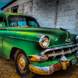 Old Chevy by James Kirk - Transportation Automobiles ( car, green, transportation, antique, chevy )