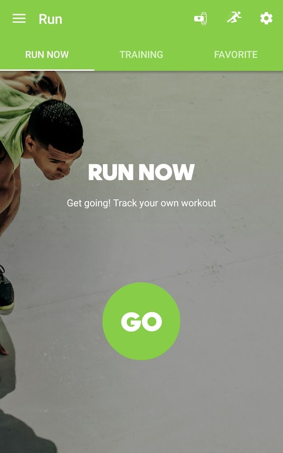 adidas train & run Screenshot