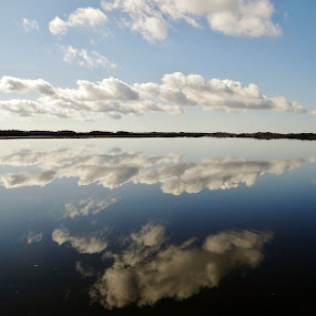 Reflections by Keri Butcher - Novices Only Landscapes ( clouds, water, bay, florida, landscapes )