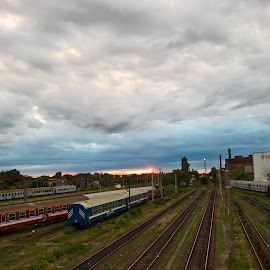 Trains by Irina Stoica - Transportation Trains