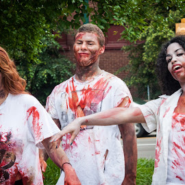 Memphis Zombie Walk by Mary Phelps - People Street & Candids ( memphis, zombie, tennessee, downtown, zombies, zombie walk )
