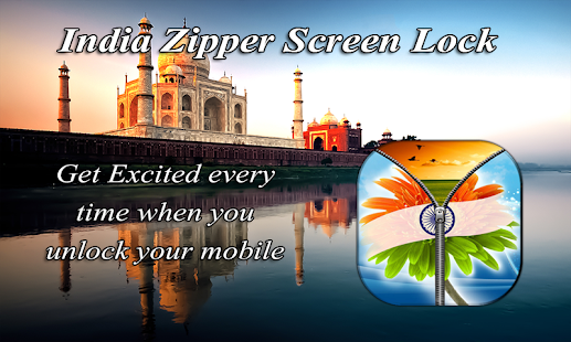India Zipper ScreenLock - screenshot