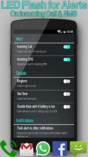 Flashlight Call SMS - screenshot