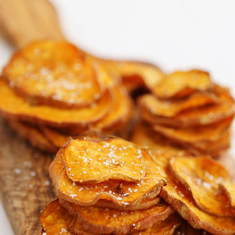 Baked Salt + Vinegar Sweet Potato Chips