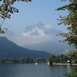 Walensee, St Gallen, Switzerland by Serguei Ouklonski - Landscapes Mountains & Hills ( sky, mountain, mountains, alps, nature, europe, lake, water, landscape )