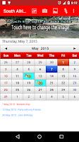 Screenshot of South Africa Calendar 2015