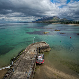 Old Head by Jim Hamel - Landscapes Travel ( water, ireland, croagh patrick, pier, old head, county mayo )