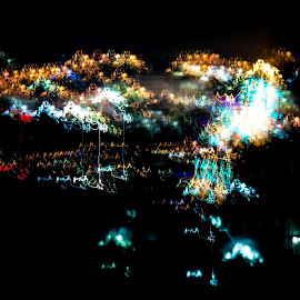 City of Lights i by David Davies - Abstract Light Painting