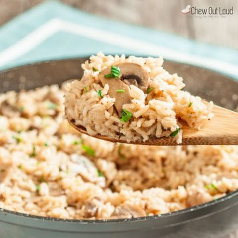 Easy Rice Pilaf with Mushrooms