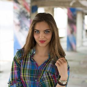 Elena by Cosmin Lita - People Portraits of Women ( girl, beautiful, blue eyes, pretty, portrait,  )