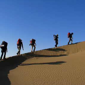Desert Hiking by Hamed Ghalandar - Sports & Fitness Other Sports ( iran, maranjab desert, kashan )