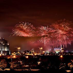 Putrajaya by Hussin Mohd Nor - City,  Street & Park  Skylines ( putrajaya, fireworks )