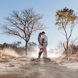 Just before Sunset by Lood Goosen (LWG Photo) - Wedding Bride & Groom ( wedding photography, wedding photographers, lood goosen, lwg photo, pre wedding photos, groom and bride, bride and groom, wedding photographer, engagement shoot, bride, groom, bride groom )