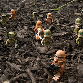 Troopers on the Move by Gerald Glaza - Artistic Objects Toys ( troopers, clone troopers, star wars, jar jar, lego )