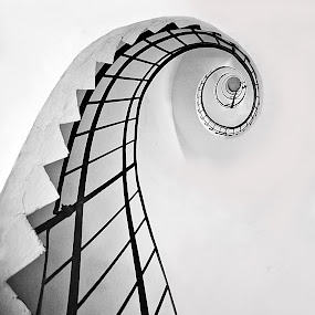 Spiral staircase in the lighthouse by Ivana Miletic - Buildings & Architecture Architectural Detail ( spiral staircase, dugi otok, croatia, lighthouse, zadar, island )