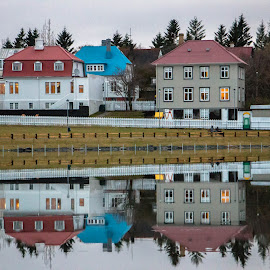Which Is Which by Shanna Haid - Buildings & Architecture Homes ( canon, detail, reflection, unique, colorful, waterscape, land, reflections, beauty, architecture, landscape, shaid photography, mirror, wow, perfection, awesome, water, incredible, beautiful, lake, iceland, color, serene, outdoor, outdoors, artistic, outside )