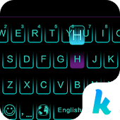 Free Neon Blue Kika Keyboard Theme APK for Windows 8