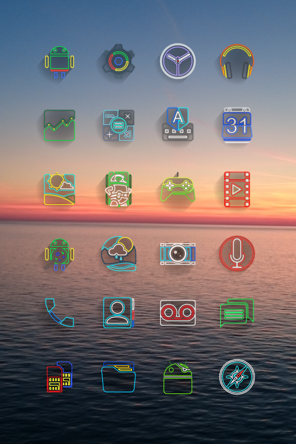 Laser Beam Icon Pack Screenshot 17