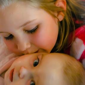 Cousin love by Morne Kotze - Babies & Children Children Candids ( love, child portrait, cousins, portrait,  )