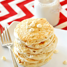 White Chocolate Macadamia Nut Pancakes