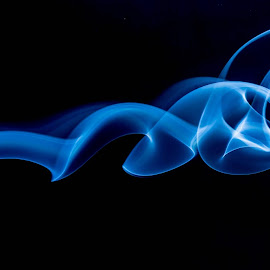 Smoked by Robert Stanley - Abstract Macro ( abstract, macro, blue, smoke photography, blue in anything, smoke trails )