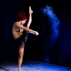 Dancing by Mel Stratton - Nudes & Boudoir Artistic Nude ( kick, flour, woman, dance, dancer,  )