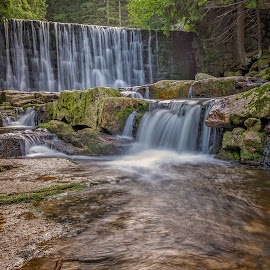 Wild waterfall by Witold Steblik - Landscapes Waterscapes ( water, wild, nature, karpacz, waterfall, forest, landscape, poland )