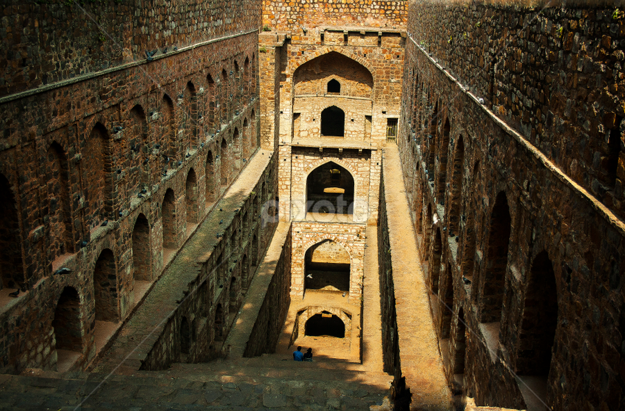 Agrasen Ki Baoli by Vyom Saxena - Buildings & Architecture Public & Historical ( agrasen ki baoli, monuments of delhi, baoli, architectures of india, delhi )