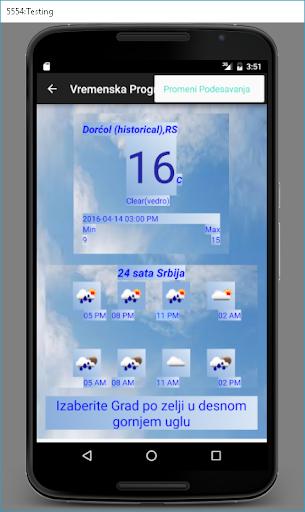 Vremenska Prognoza Srbija 24h - screenshot